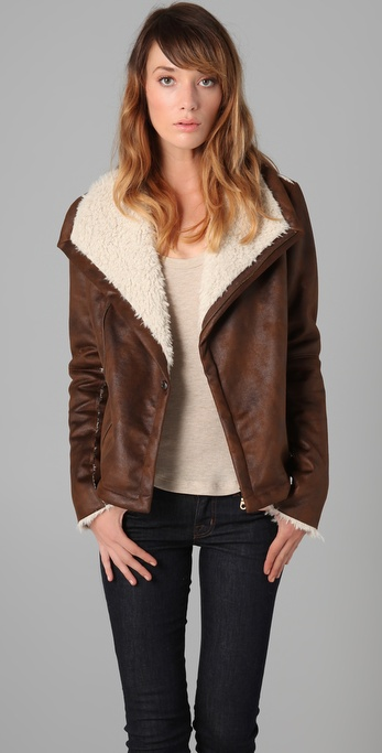 A cozy coat that could easily go with jeans or pretty maxi skirt.  Velvet Cath Jacket ($187)