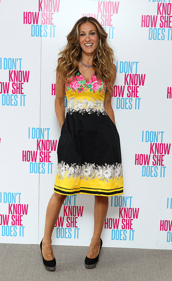 Sarah Jessica Parker at an I Don't Know How She Does It press event.