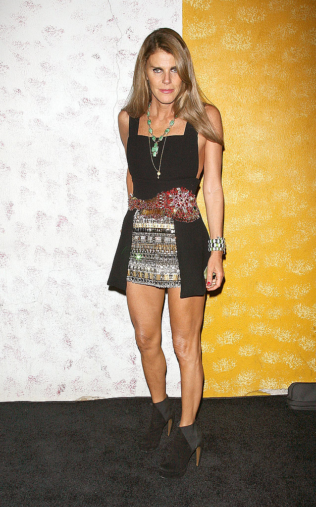 Anna Della Russo showed off her stems at Carine Roitfeld's Barneys bash.