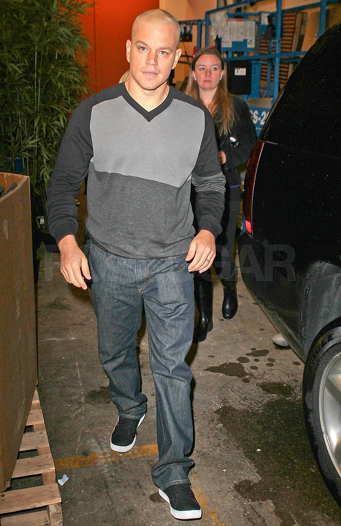 Matt Damon wore his finest sneakers for a visit to Live With Regis and Kelly.