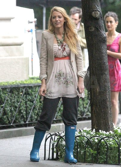 Blake Lively rehearsed her scenes on the set of Gossip Girl in NYC.