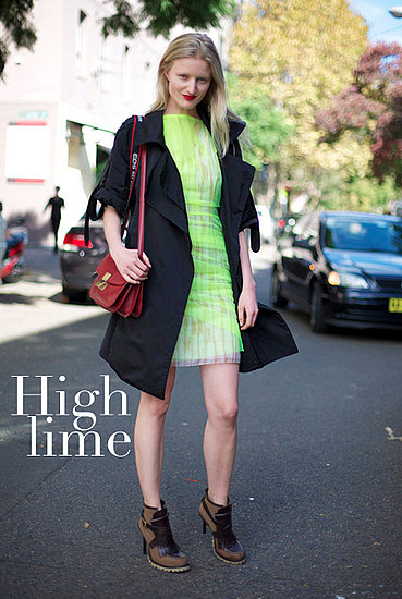 Fall 2011 Street Style - How to Wear Neon For Fall