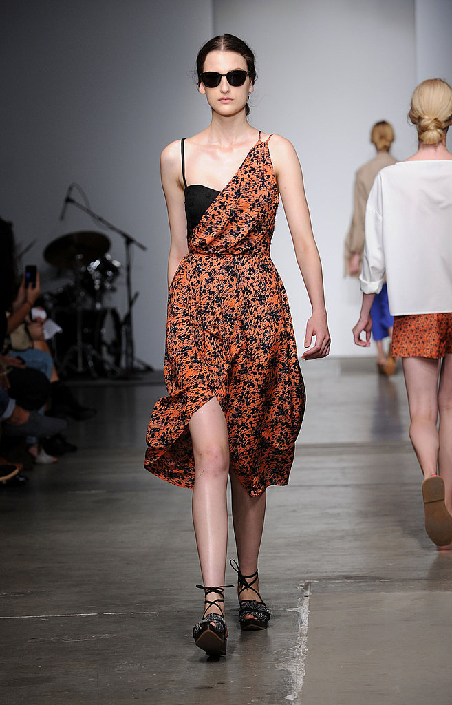 Rachel Comey did a genius take on layering with this orange print dress.