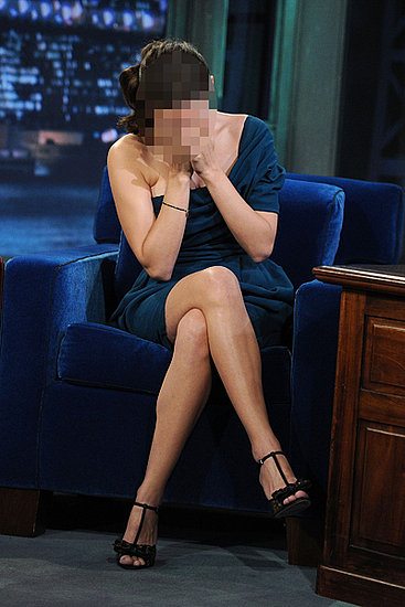 Guess Which Actress Covered Her Face During a TV appearance?