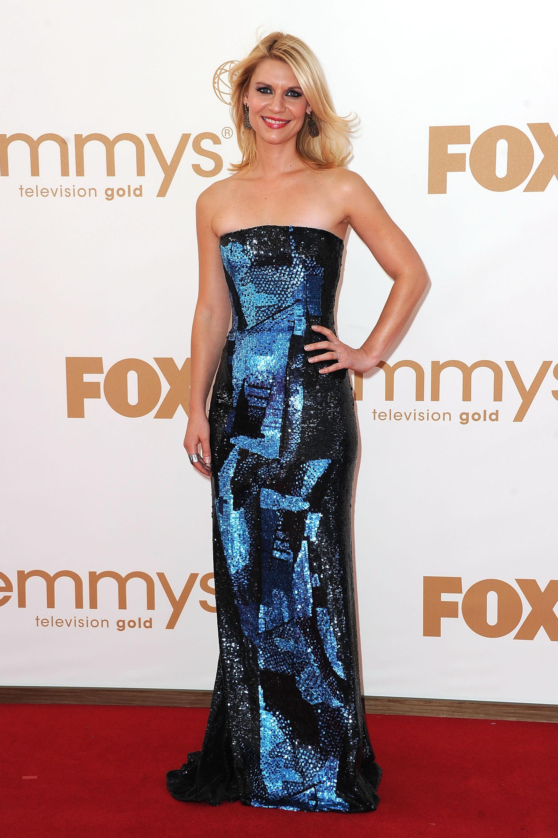 Claire Danes in Oscar de la Renta at the Emmys.
