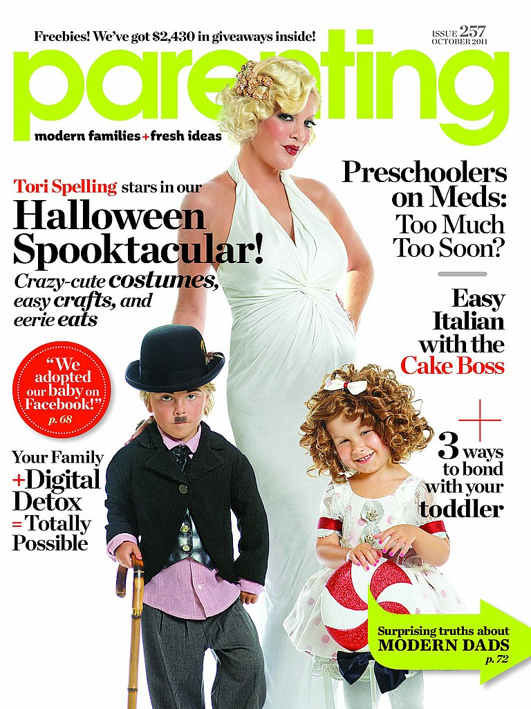 Tori Spelling, Liam and Stella on the Cover of Parenting