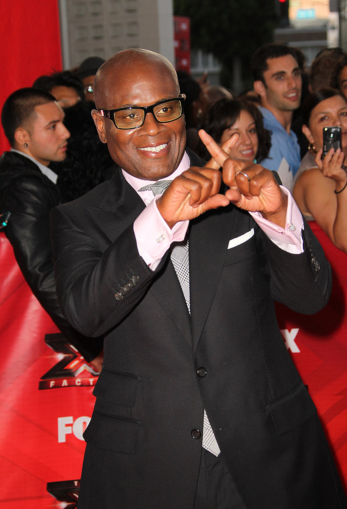 L.A. Reid flashed an X for fans.