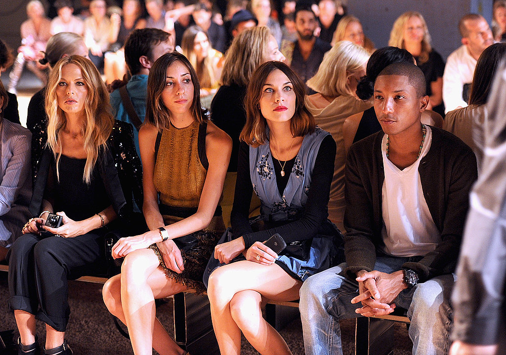 Rachel Zoe, Gia Coppola, Alexa Chung and Pharrell Williams composed the front row of the Proenza Schouler Spring 2012 fashion show.