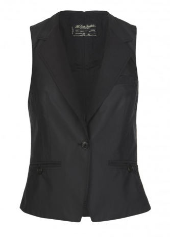 A sleek tuxedo vest to layer over silk blouses and lace tops.  All Saints Goodge St Waistcoat ($175)