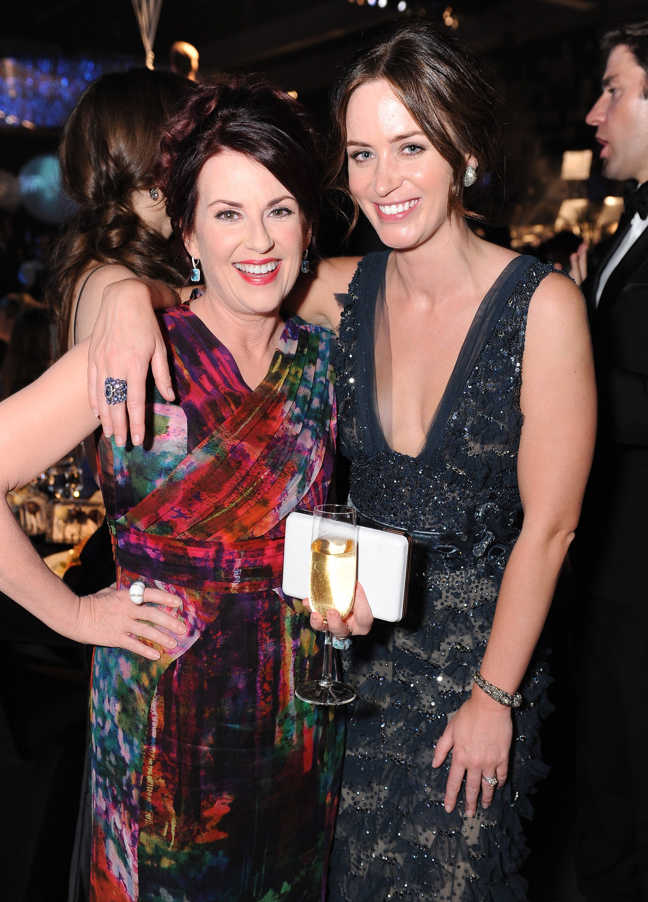 Emily Blunt and Megan Mullally at the Emmy's Governor's Ball.