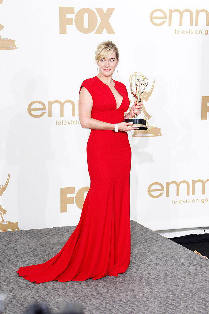 Kate Winslet in the Emmys press room.