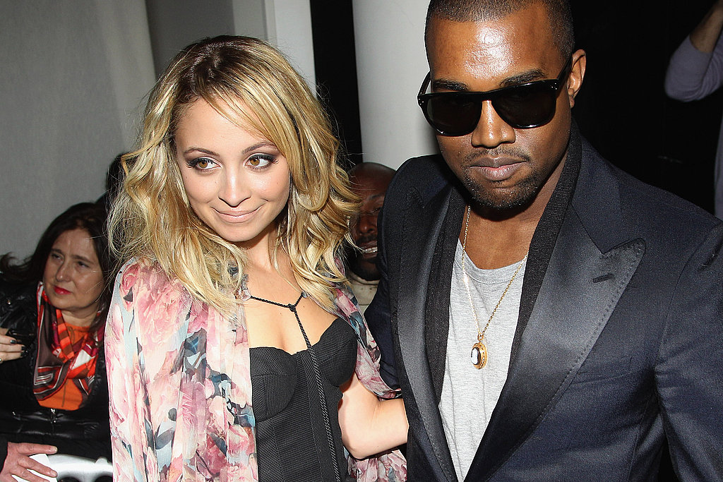 Nicole Richie was escorted by Kanye West out of Jean Paul Gaultier's show in Paris in March 2011.