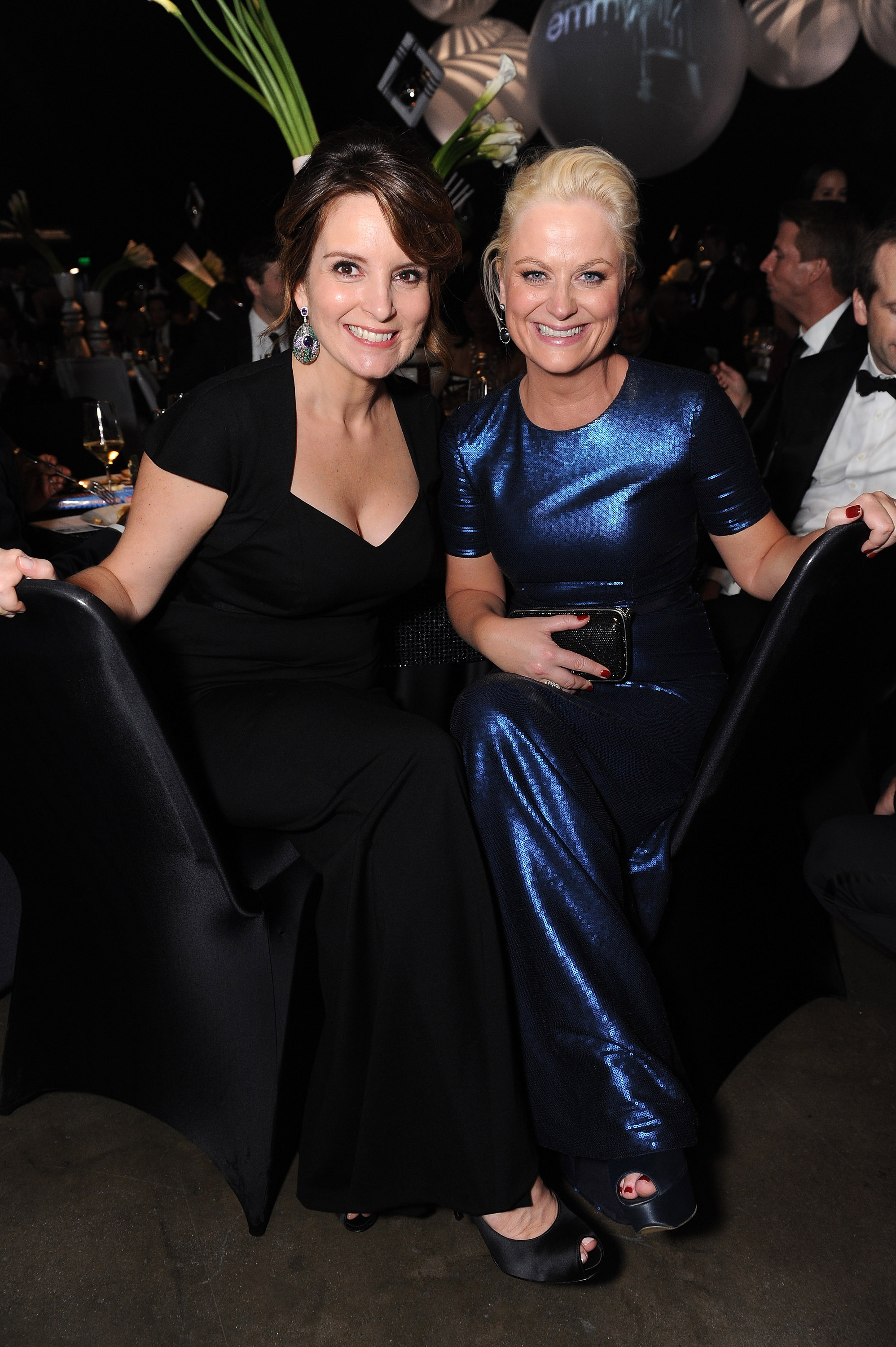 Tina Fey and Amy Poehler at the Emmy's Governor's Ball.