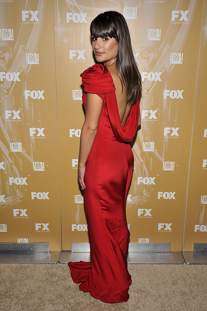 Lea Michele in Marchesa at the 2011 Fox Emmys bash.