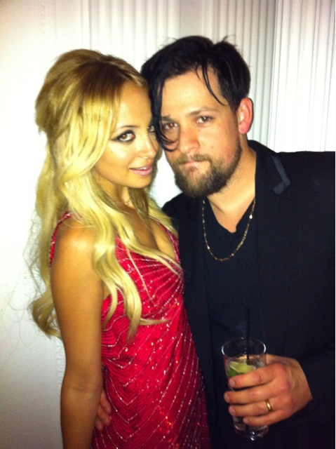 Nicole Richie posed with her hubby Joel on her birthday. Twitter User: nicolerichie