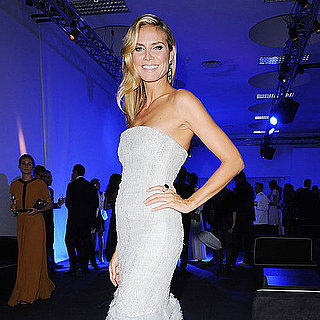 Bar Refaeli and Heidi Klum at amfAR's Milan Charity Gala Pictures