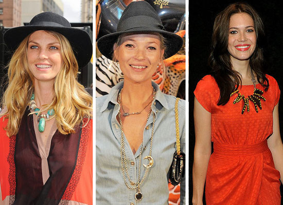 Pictures of Kate Moss, Olivia Palermo, Rachel Zoe, Heidi Klum and more wearing Statement Necklaces