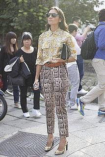 Spring 2012 Milan Fashion Week Street Style: Day 3