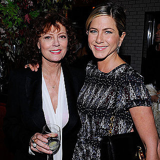 Jennifer Aniston and Susan Sarandon at Artists For Haiti Dinner Pictures