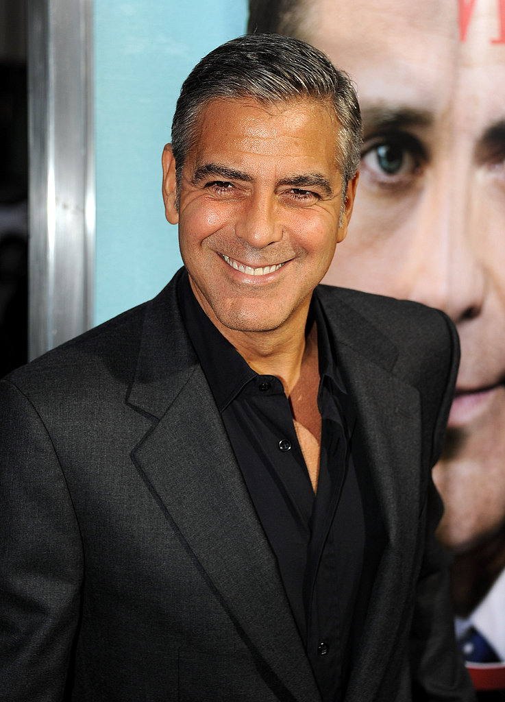 George Clooney looked dapper in all black.