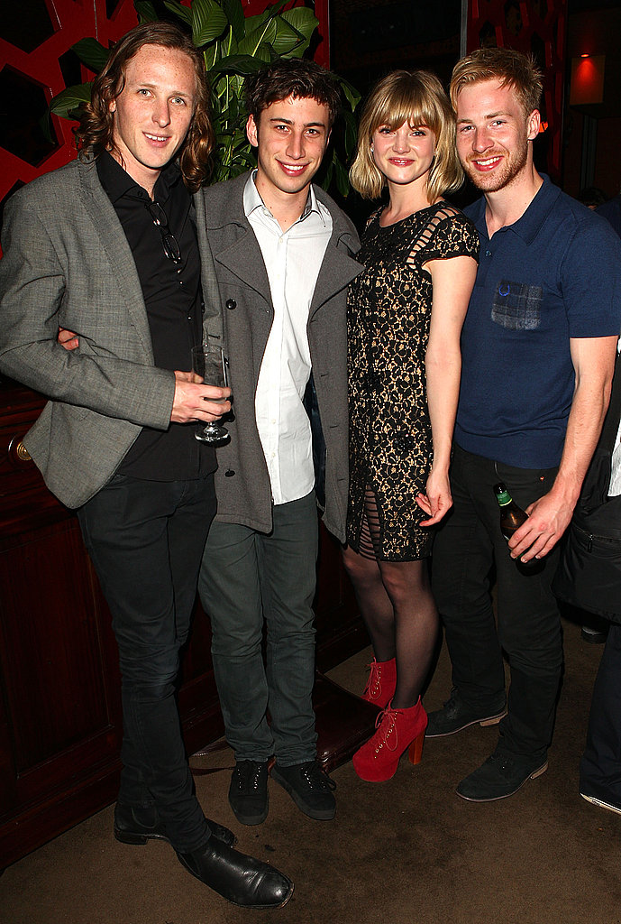 Jamie Timony, Will Shephard, Cariba Heine and Angus McLaren partied after the Sydney premiere of The Hunter on Sept. 26.