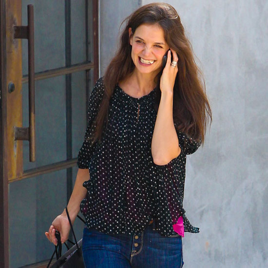 Katie Holmes Pictures Shopping at Maxfield