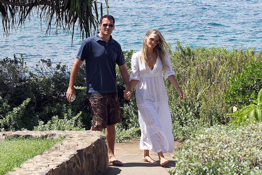 Molly Sims and Scott Stuber by the beach.