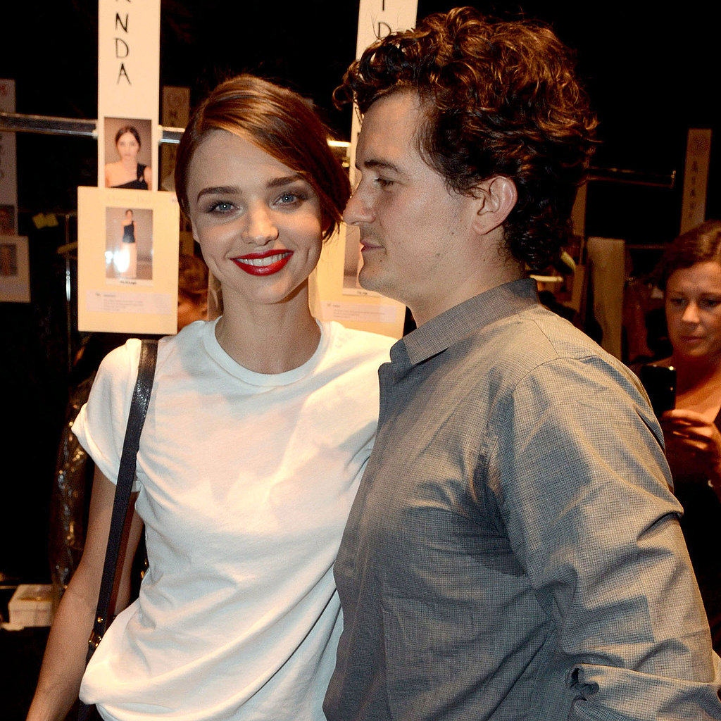 orlando bloom and miranda kerr pictures at dior paris fashion week popsugar celebrity. Black Bedroom Furniture Sets. Home Design Ideas