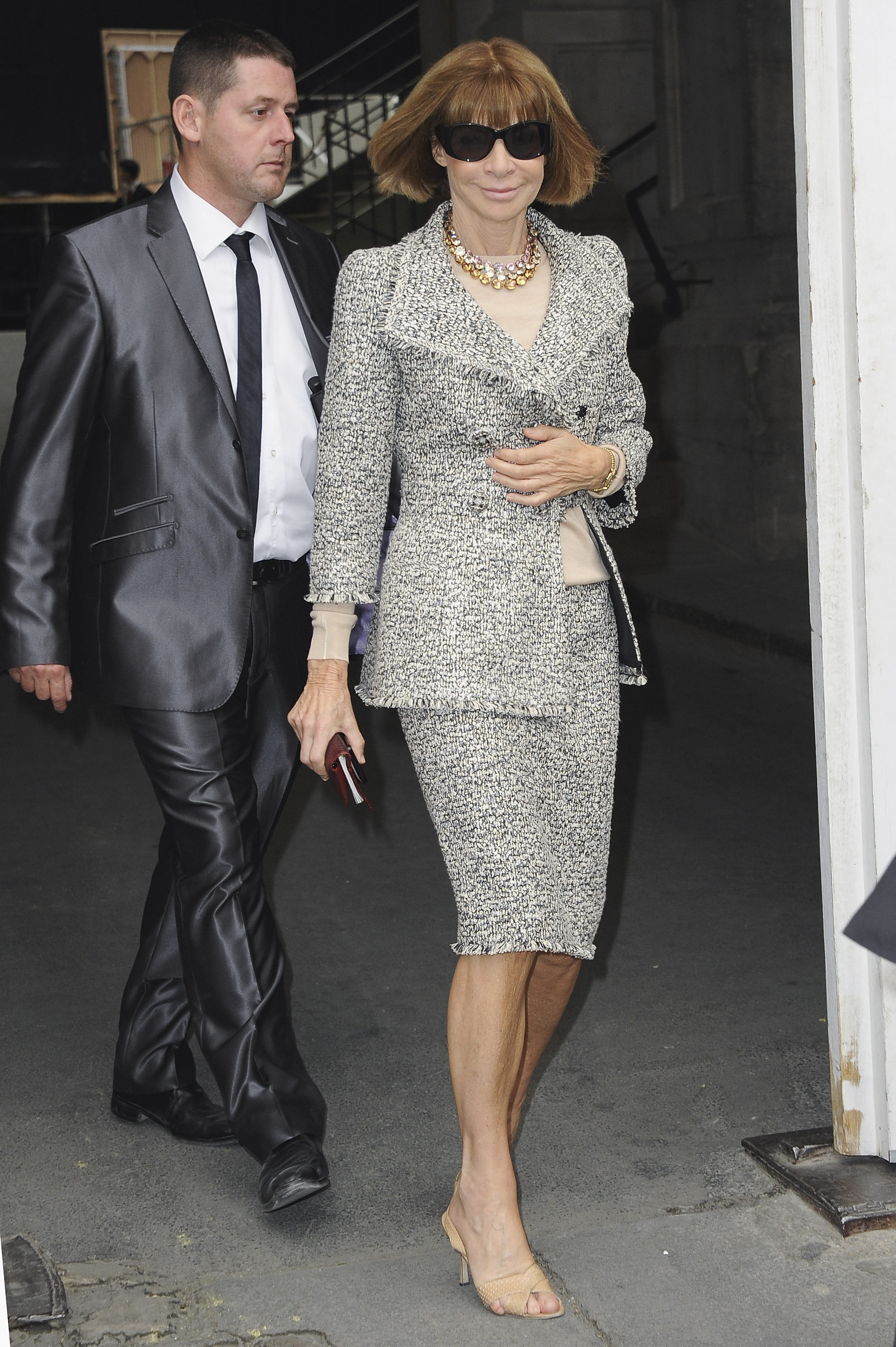 Anna Wintour at Paris Fashion Week.