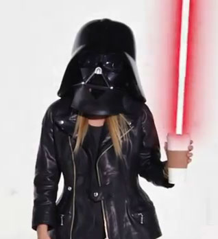 Ashley Olsen and Mary-Kate Olsen put their own spin on Darth Vader.