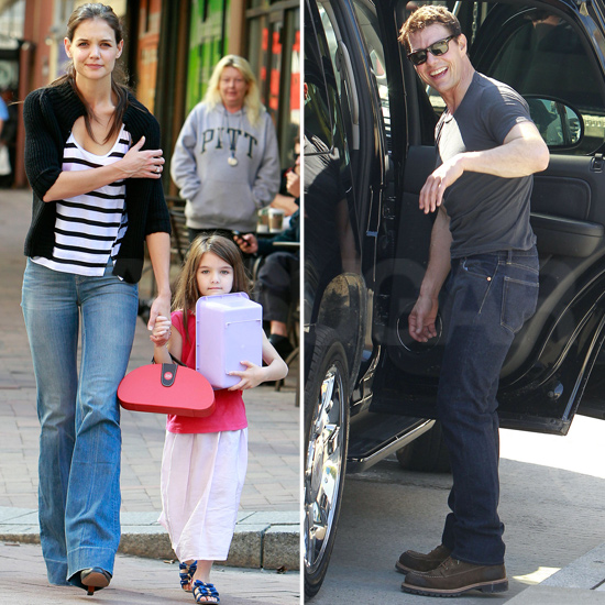 Suri Brings Her Doll, Purse, and Katie Along to Pay Tom an On-Set Visit in Pittsburgh