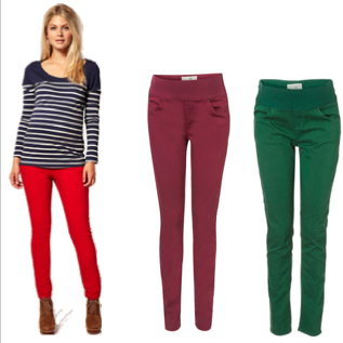 Colored Maternity Jeans