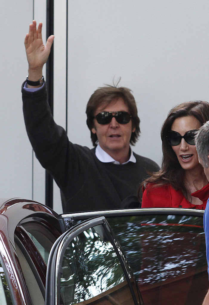 Paul McCartney and Nancy Shevell together one day after their wedding.
