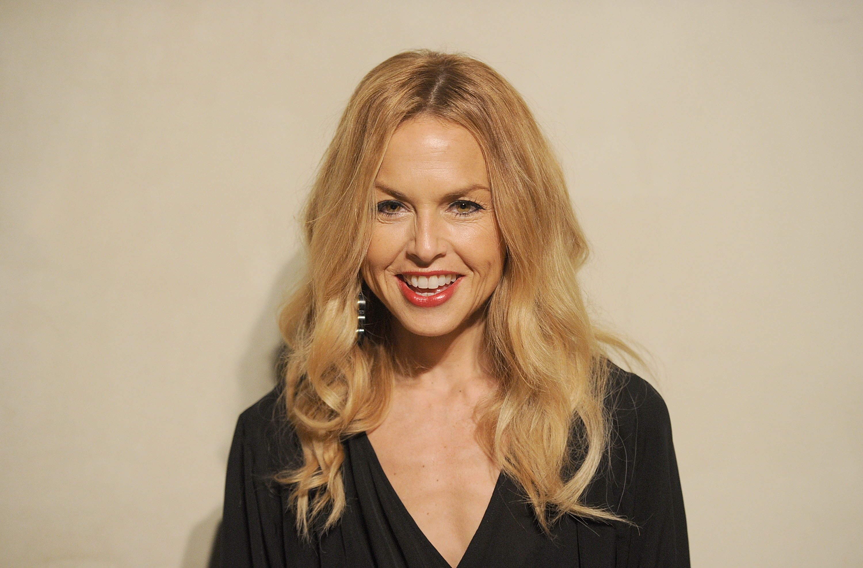 Rachel Zoe smiled on her way to a private dinner.