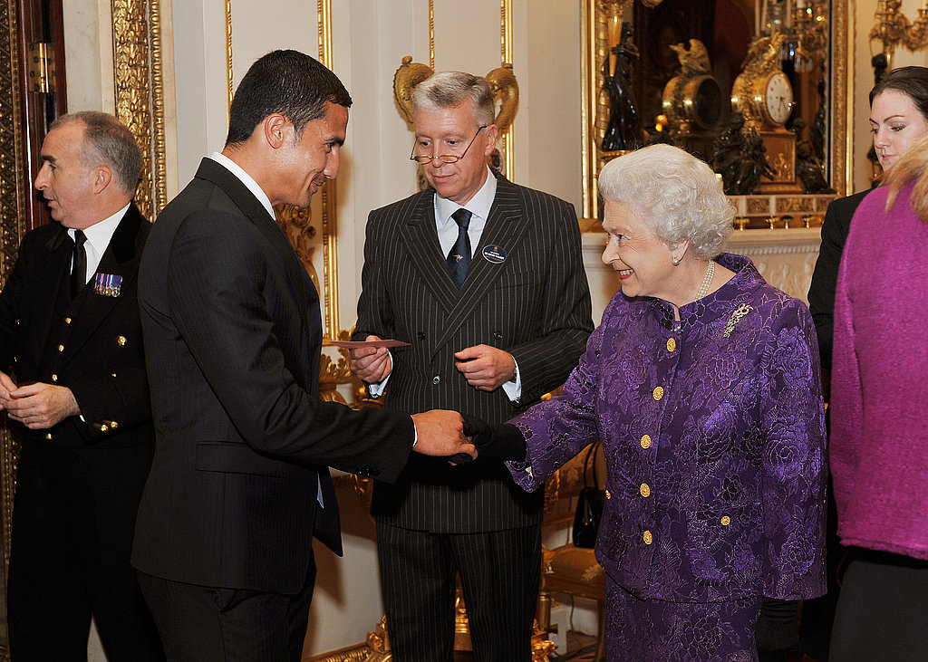 Tim Cahill and the Queen