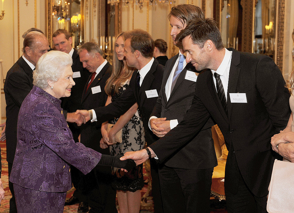 The Queen and Hugh Jackman
