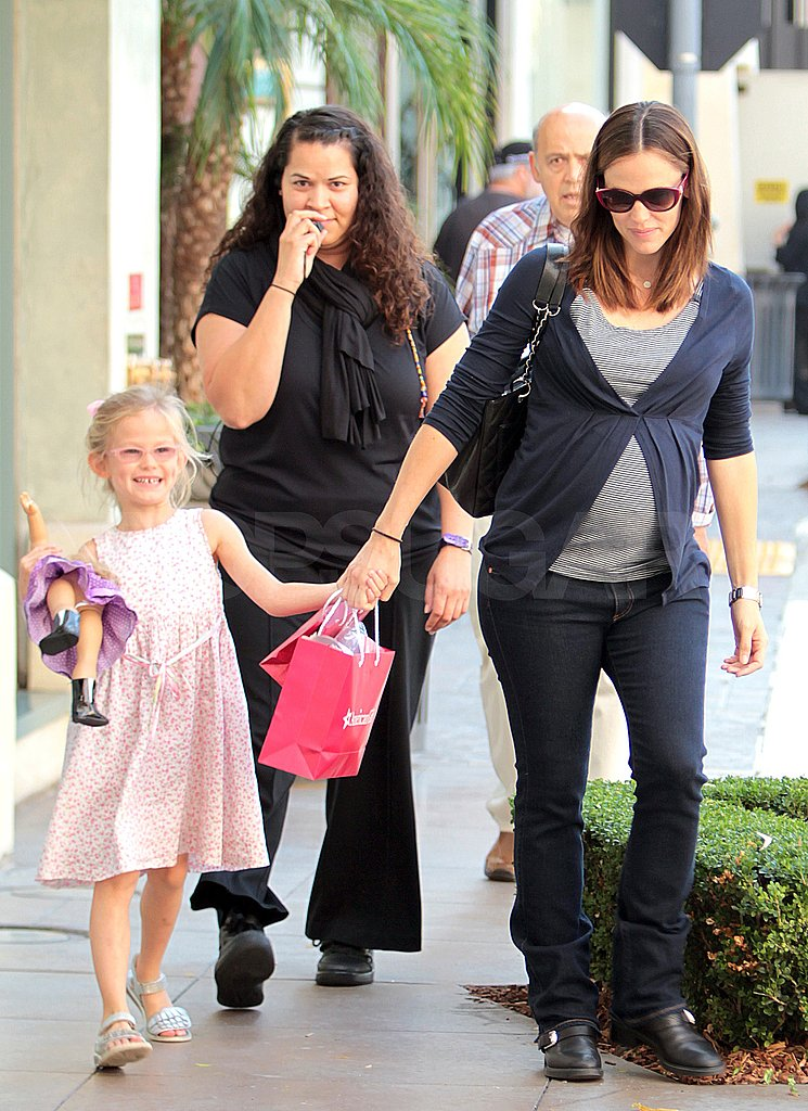 Violet Affleck and Jennifer Garner held hands at The Grove.