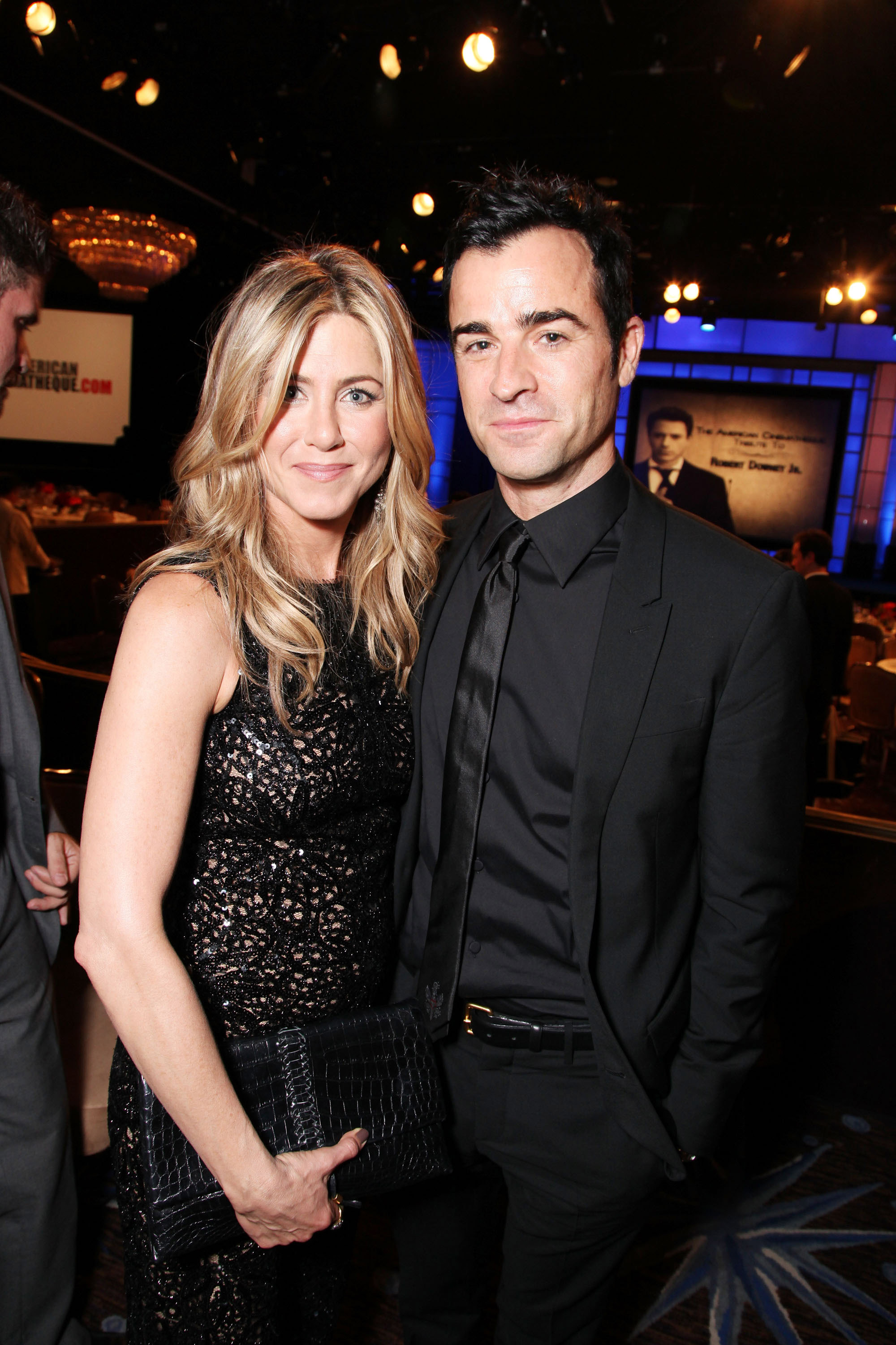 Jennifer Aniston and Justin Theroux made the event a date night.
