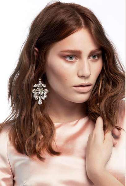 Alissandra struggled when she had to do the first shoot post-makeover, but the earthy makeup tones really suited her ivory complexion. Image courtesy of FOXTEL