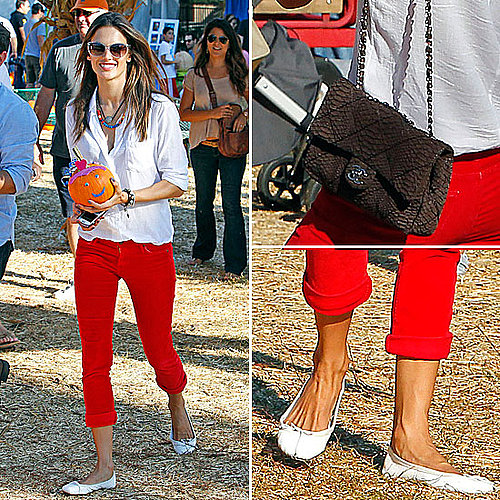 Celeb Style: Alessandra Ambrosio's Pumpkin Patch Outfit