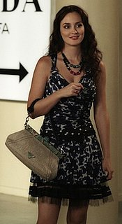 Leighton Meester as Blair Waldorf Style in Louis Vuitton Dress With Prada Bag