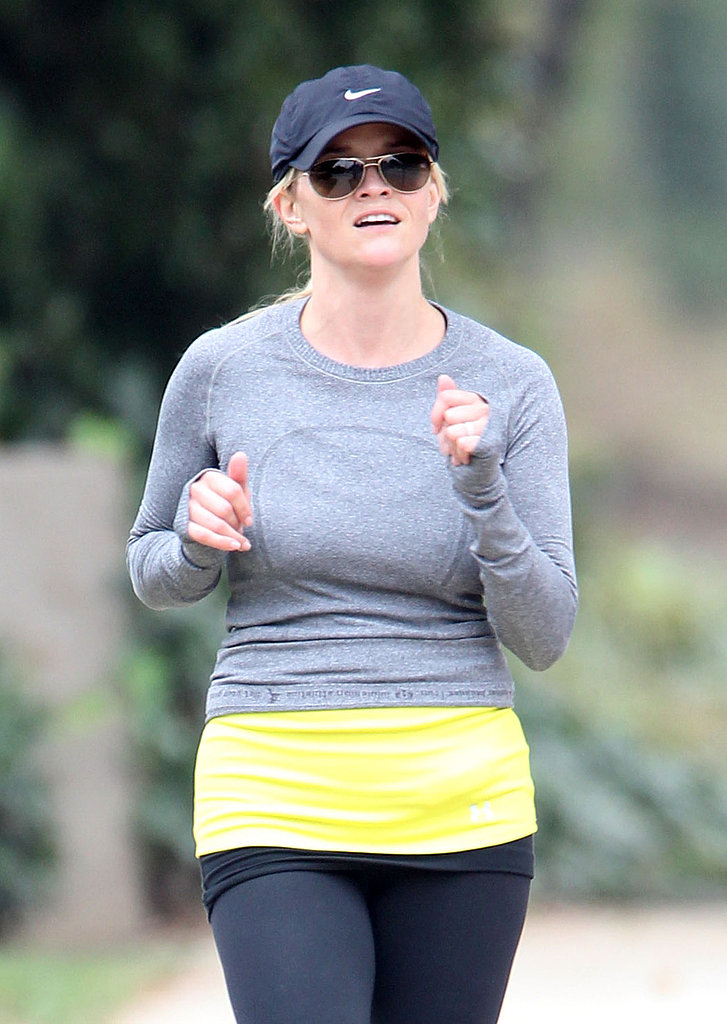 Reese Witherspoon on a jog in LA.