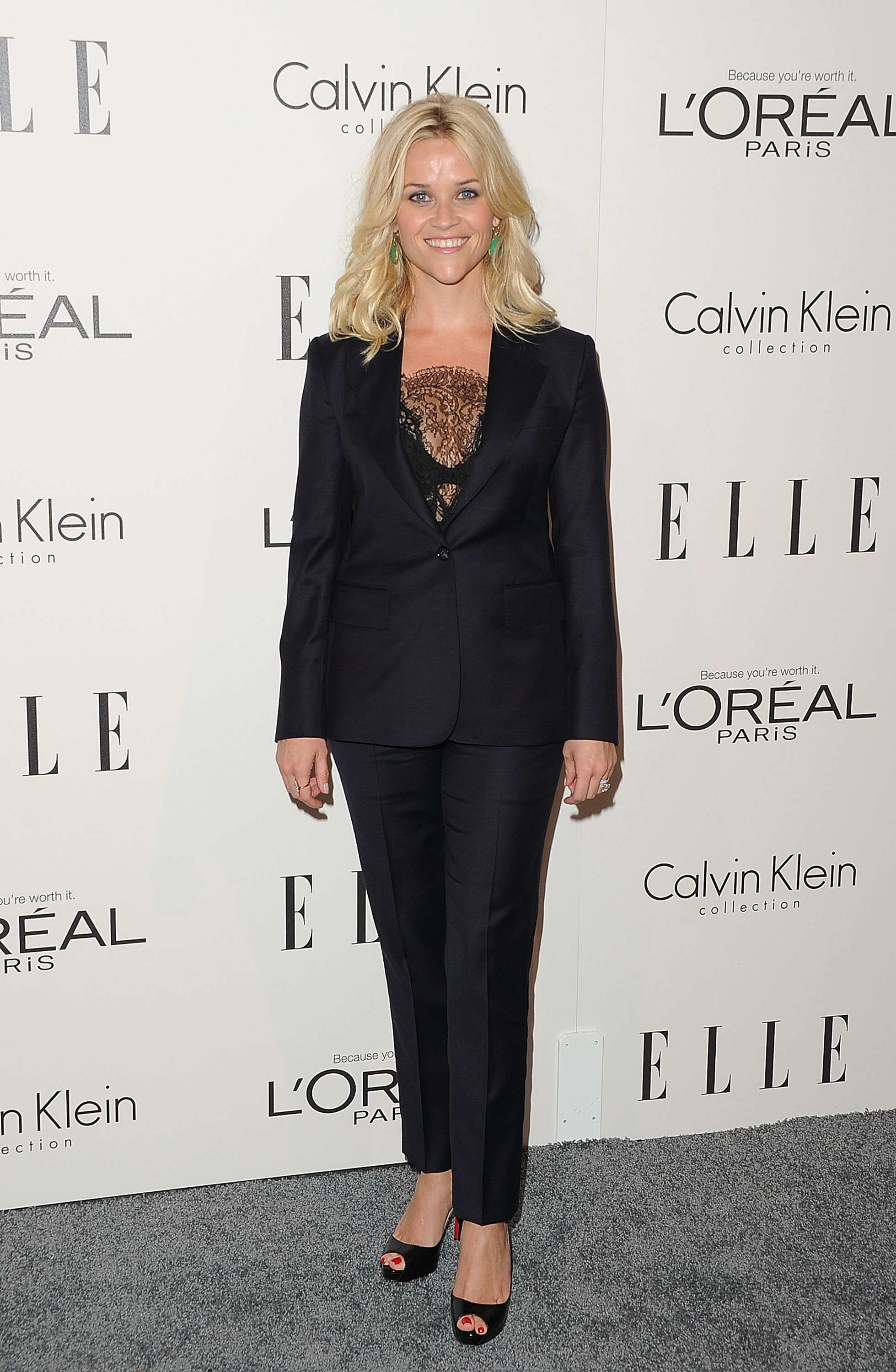 Reese Witherspoon wore a feminine suit to an event in LA honoring women in Hollywood.