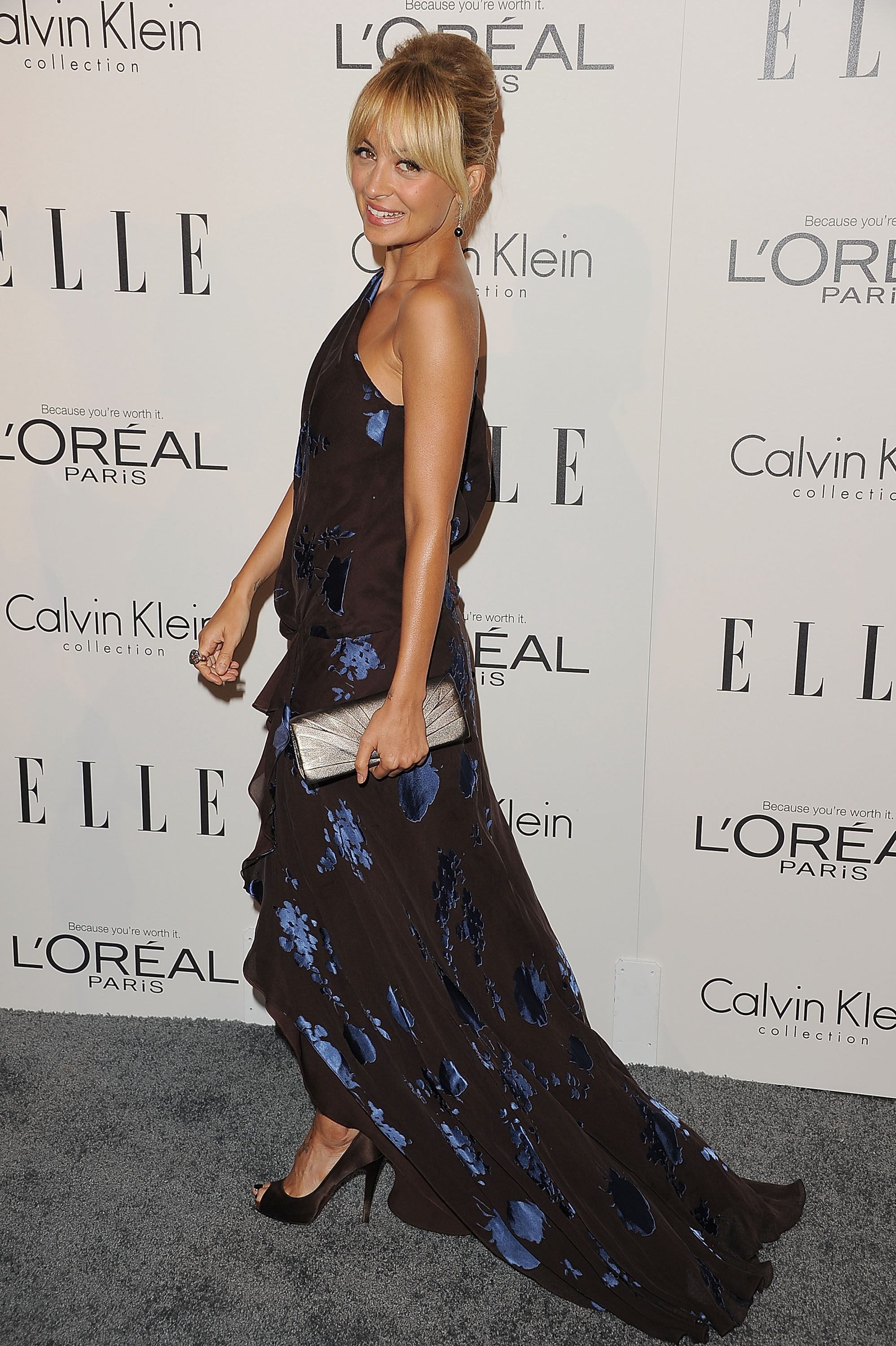 Nicole Richie on the red carpet for an Elle event.