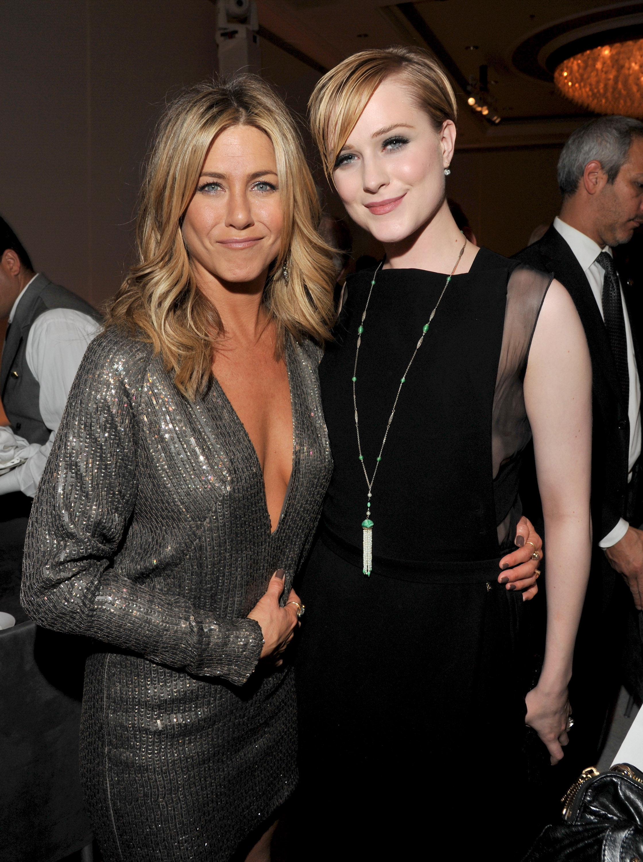 Jennifer Aniston and Evan Rachel Wood were honored at an event in LA.