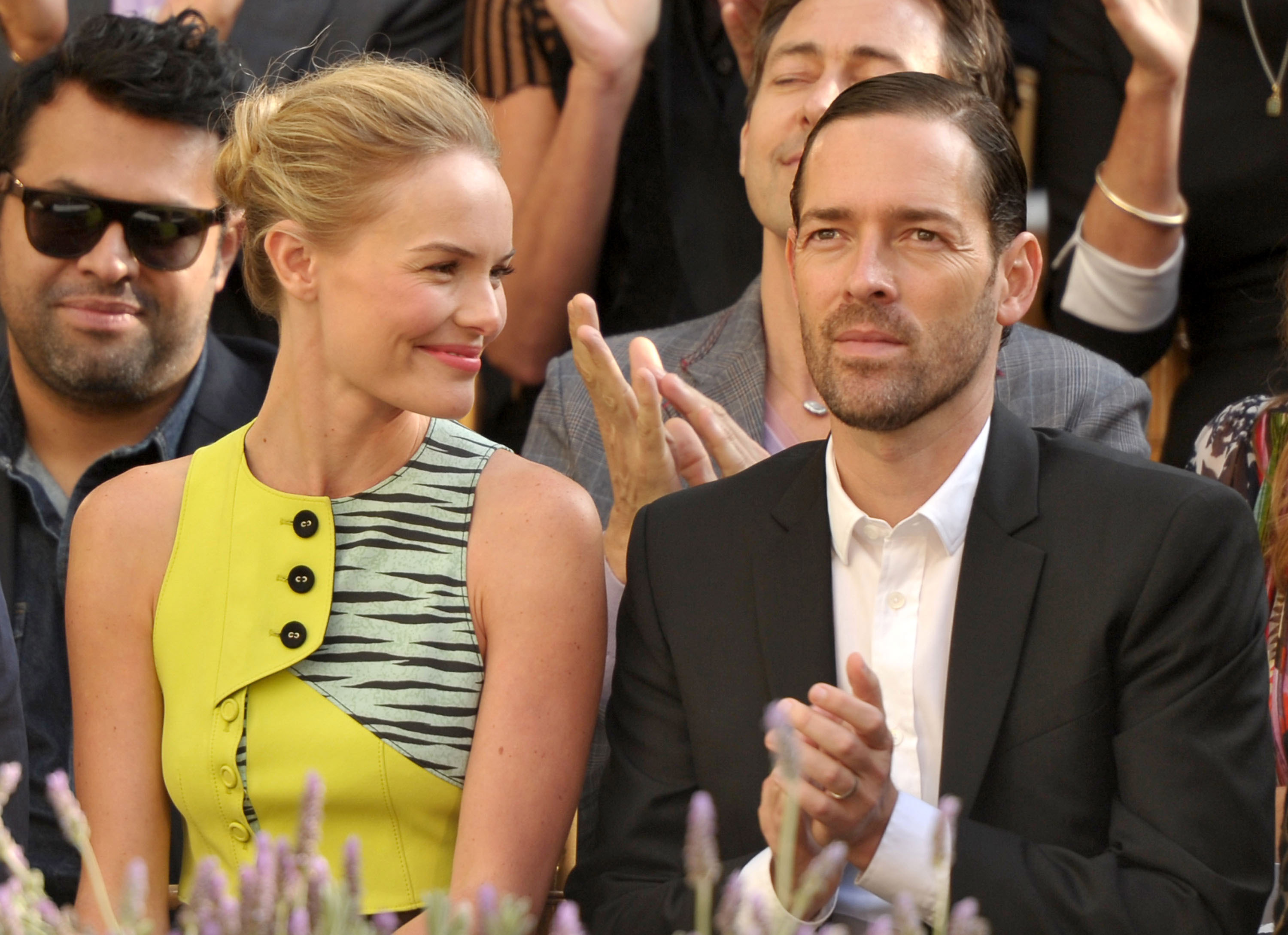 Kate Bosworth and Michael Polish in sleek looks for a Vogue CFDA party.
