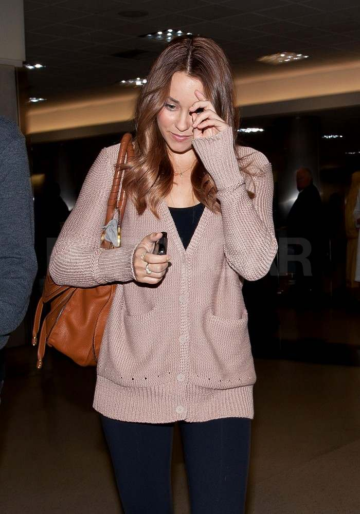 Lauren Conrad with brown hair.