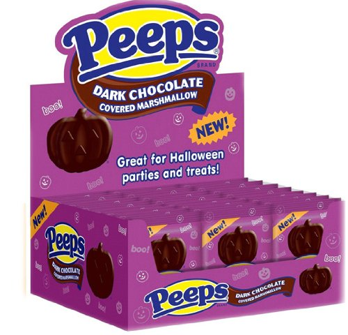 Dark Chocolate Covered Pumpkin Marshmallow Peeps, 24 Pieces ($22)