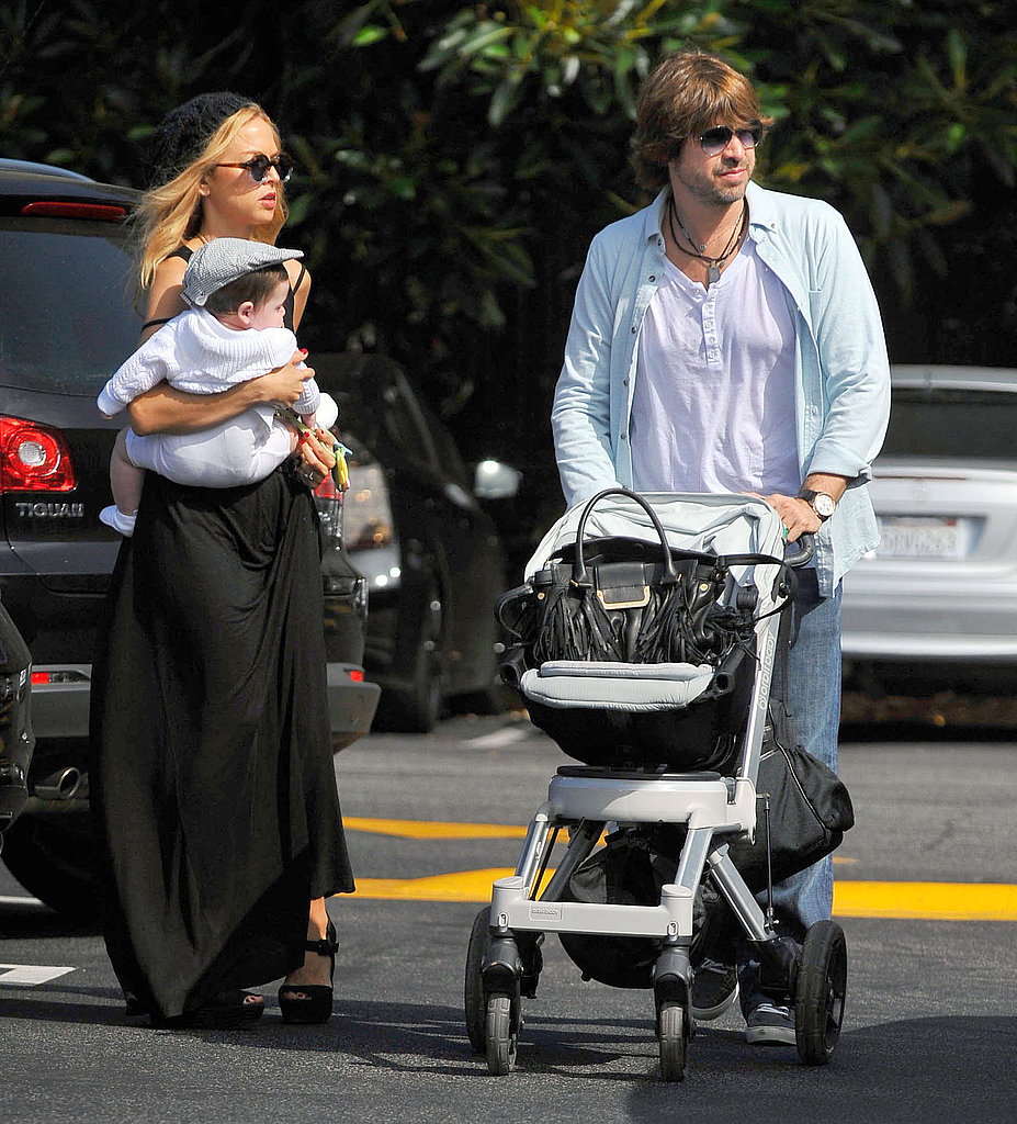 Rachel Zoe and Rodger Berman were out and about with their son, Skyler.