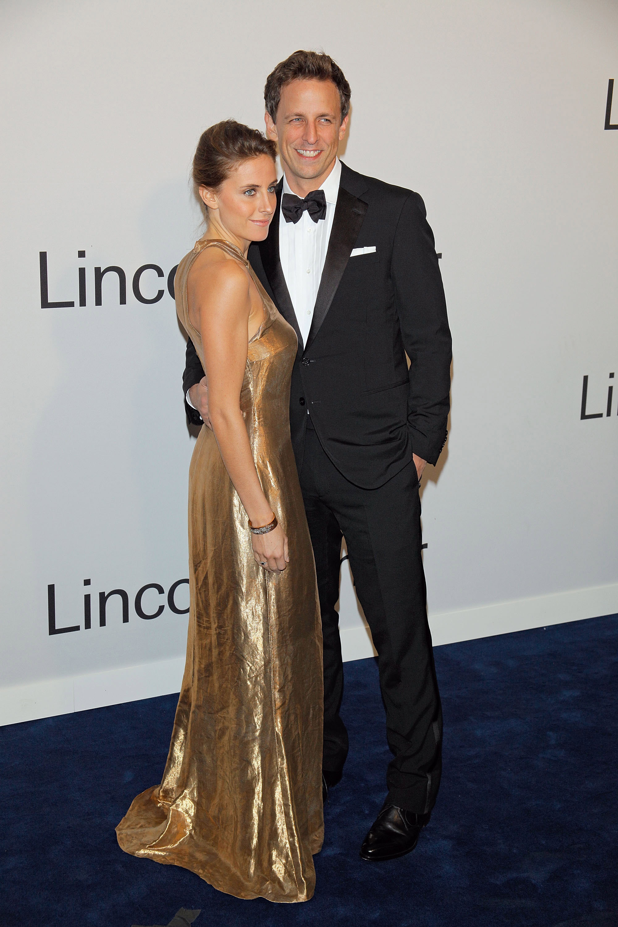 Seth Meyers and Alexi Ashe attended an Evening with Ralph Lauren in NYC.